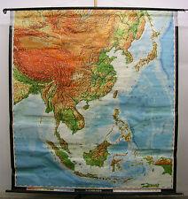 Schulwandkarte Wandkarte Landkarte Südostasien China Japan Vietnam 197x215 1968
