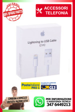 CAVO LIGHTNING APPLE BLISTER ORIGINAL IPHONE 5 6 7 8 Xs DA 2 METRI BIANCO iOS12