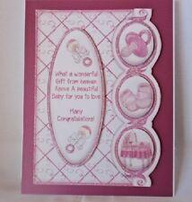 """Handmade""card~BEAUTIFUL 3D~BOY GIRL BABY CARD~By D~#B121"