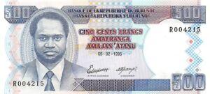 Burundi 500 Francs 1995 Unc pn 37A