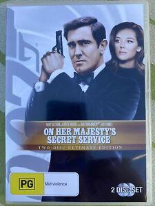 James Bond 007 In On Her Majesty's Secret Service Dvd Movie. Free Postage.
