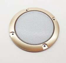"2pcs 3""inch Golden Speaker grille decorative ring Speaker protective cover Horn"
