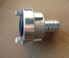STORZ 25-D to 20mm hose tail - forged aluminium 3/4 inch fire pump fitting