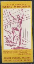COMET SWEETS-OLYMPIC ACHIEVEMENTS PACKAGE ISSUE-#22- DIVING - JOAQUIN CAPILLA