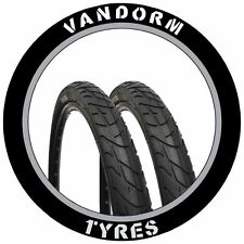 "MTB Slick 26"" x 2.10"" Vandorm Wind 210 Mountain Bike Tyres PAIR"