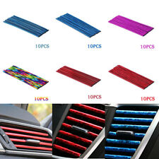 10x Car Air Conditioner Air Outlet Decoration Bright Strip Colorful Accessories (Fits: Gmc Safari)