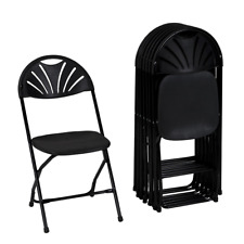 Cosco Zown Premium Commercial Fan Back Banquet Folding Chair Black (8-Pack)