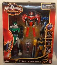 Power Rangers Mystic Force - Titan Megazord 5 Zords Combine Complete In Open Box