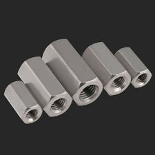 A2 Stainless Steel Hex Nuts Hexagon Connector Rod Bar Stud Long Nut M5 M6 M24