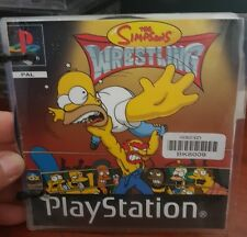 The Simpsons Wrestling (EX RENTAL DISC) - PS1 SONY PLAYSTATION 1 -  FREE  POST