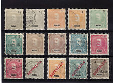 Macau Macao Carlos I 1898/1911 15 Stamps