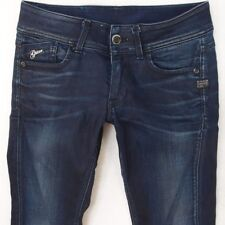 Ladies Womens G-Star LYNN SKINNY WMN Stretch Blue Jeans W30 L32 UK Size 10