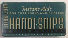 Vintage Bauer & Black Handi Snips Blue Tin RARE Wet-Pruf Band Aids Kendall Co EC