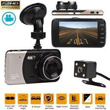 "Dual Lens Camera HD 1080P 170° Car DVR Video Dash Cam Front Rear Recorder 4"" UK"