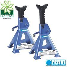 Coppia di cavalletti FERVI 6 Tonnellate per sostegno veicoli auto 6T 390-600 mm