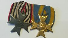 Originale  preussische Ordensspange mit goldenem Verdienstkreuz