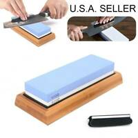 Knife Sharpening 1000/6000 Grit Stone Kitchen Whetstone Sharpener Wet Two Sided