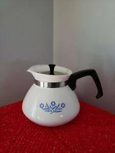 Corning Ware Blue Cornflower Teapot Tea Pot Kettle 6 Cup vtg