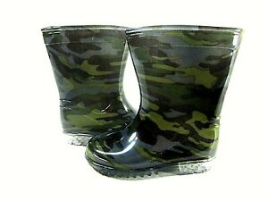 VICVIK Unisex Kids Camouflage Waterproof Green Boots, Toddler Size 9, EUR 25