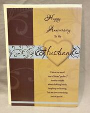 Happy Anniversary Husband Greeting Card w/Envelope NEW