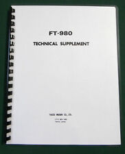 """Yaesu FT-980 Technical Supplement: w/ 11""""X17"""" foldouts & Protective Covers!"""