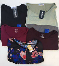 Lot Of 5 Womens Plus Size Tops Shirts Blouses Clothing 1X - 2X NWT MSRP $190 NEW