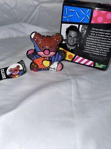 "ROMERO BRITTO ""LOVE BEAR"" 2010| NEW IN BOX POLY RESIN SCULPTURE | 1st Edition"