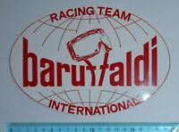 ADESIVO VINTAGE STICKER AUTOCOLLANT BARUFFALDI RACING TEAM ANNI '80 20x13cm RARO