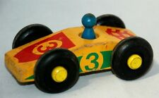 Vermont Yellow Wooden Race Car #3 - The Montgomery Schoolhouse Inc.  Wood