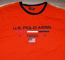 U.S. POLO ASSN. / ORIGINAL AMERICAN STANDARD / USPA 1890 ORANGE T-SHIRT SIZE 2XL