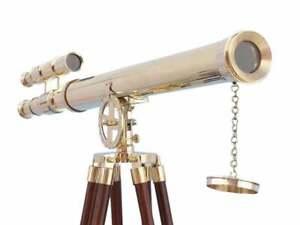 "Floor Standing Brass Griffith Astro Telescope 64"""