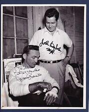 Caremen Basilio & John DeJohn signed vintage Redmond Studio boxing photo