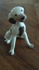 Vintage Hagen Renaker sitting spotted dog figurine ceramic miniature animal