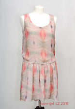 L160/10 MNG Women's Romantic Pastel Color Sleevless Tunic Dress, size S UK 8