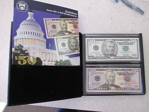 2001 & 2004 $50 Designs Matching Serial Number Set SN#CE00005371* & EE00005371A