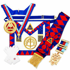 More details for full regalia pack royal arch chapter provincial lambskin apron / badge,sash ra