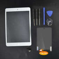 White Touch Screen Glass Digitizer Replacement+ IC+Home Button for iPad Mini 1 2