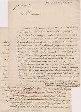 2 letras a favor del Sr Prestet Criollo San Domingo. Burdeos 1821