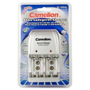 PRATIQUE : Chargeur CAMELION BC0904 pour Accus AA, AAA et 9V
