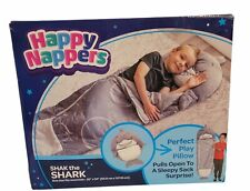 Happy Nappers Pillow & Sleep Sack- Comfy Sleeping Bag | Shak the Shark | New!
