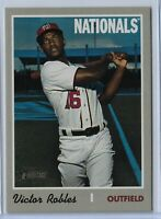 2019 Topps Heritage High Number Team Name Color Swap Victor Robles #701 SP
