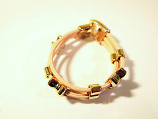 A Beautiful Fashion Geniune Leather Bracelet With Golden Bow Knot Beads