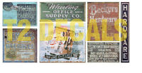 N Scale Ghost Decals Set # 21 Building Soda Walls Gum Assorted Shops Fences