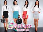 Ladies Classic Elegant Womens Skirt High Waist New Mini Pencil Sizes 8-16 FA05