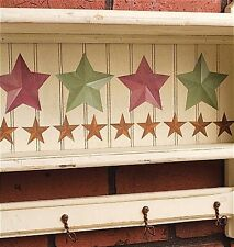 WALLIES BARN STARS wall stickers 32 decals rustic gold green burgandy farm