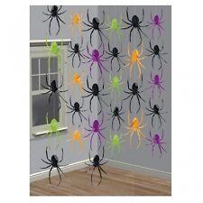 Halloween Hanging String Party Decorations Vampire Evil Creepy Room Door Window X6 Spider Strings