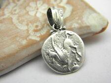Sterling silver Pegasus small pendant reproduction Greek Corinthian coin organic