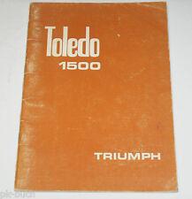 Betriebsanleitung Handleiding Triumph Toledo 1500 Stand 1970