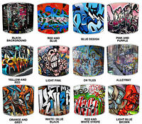 Modern Urban Street Art Graffiti Style Ceiling Light Shades Or Table Lampshades.