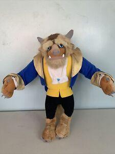 Vintage Disney Mattel Beauty and the Beast 1992 15 Inch Beast Stuffed Plush Doll